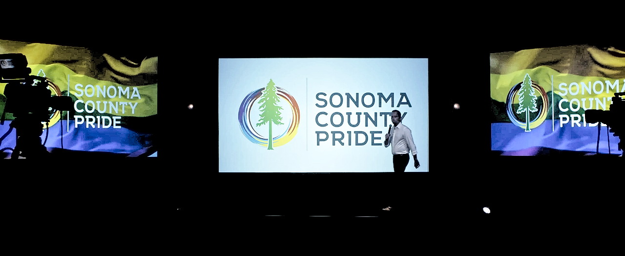 webcast studio at the luther burbank center for the arts, featuring a sonoma county pride virtual event